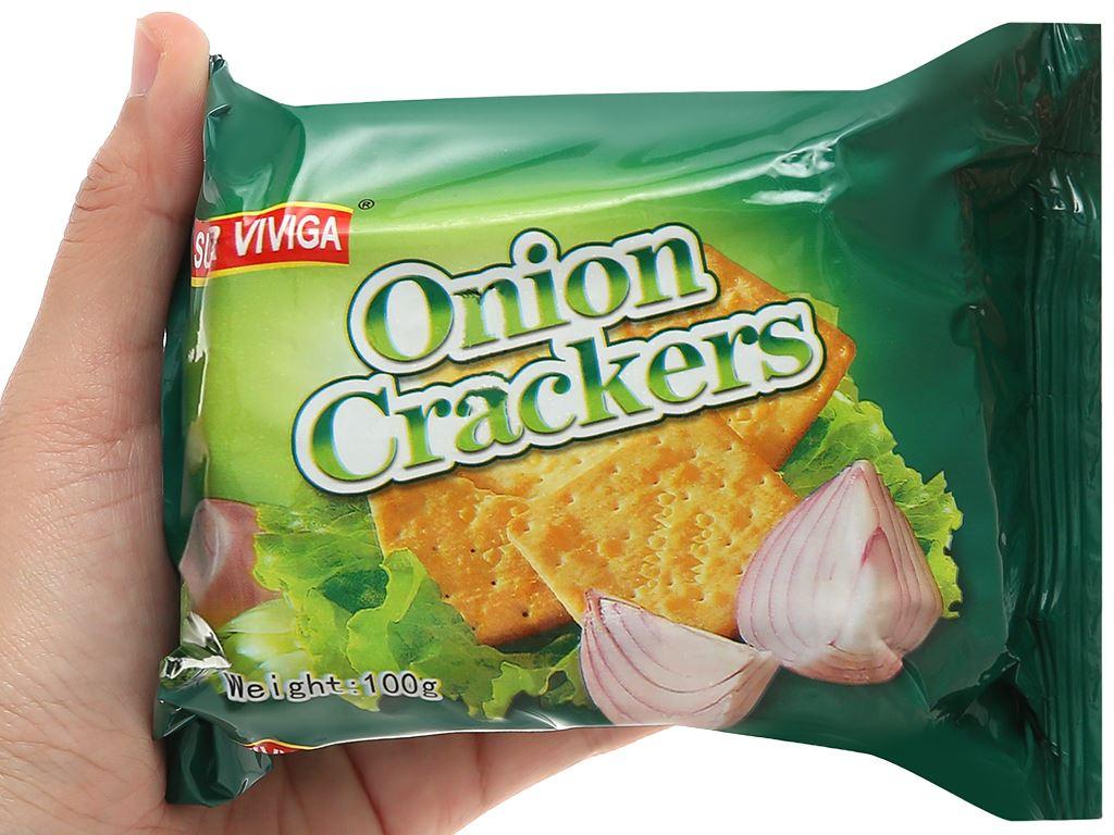 Bánh cracker vị hành Super Viviga gói 100g 4