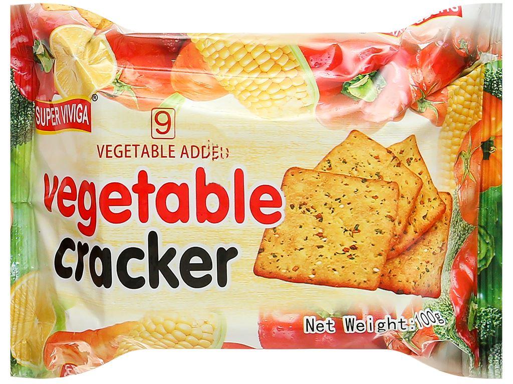 Bánh cracker vị rau củ Super Viviga gói 100g 1