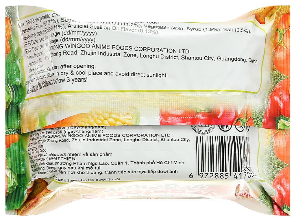 Bánh cracker vị rau củ Super Viviga gói 100g 2