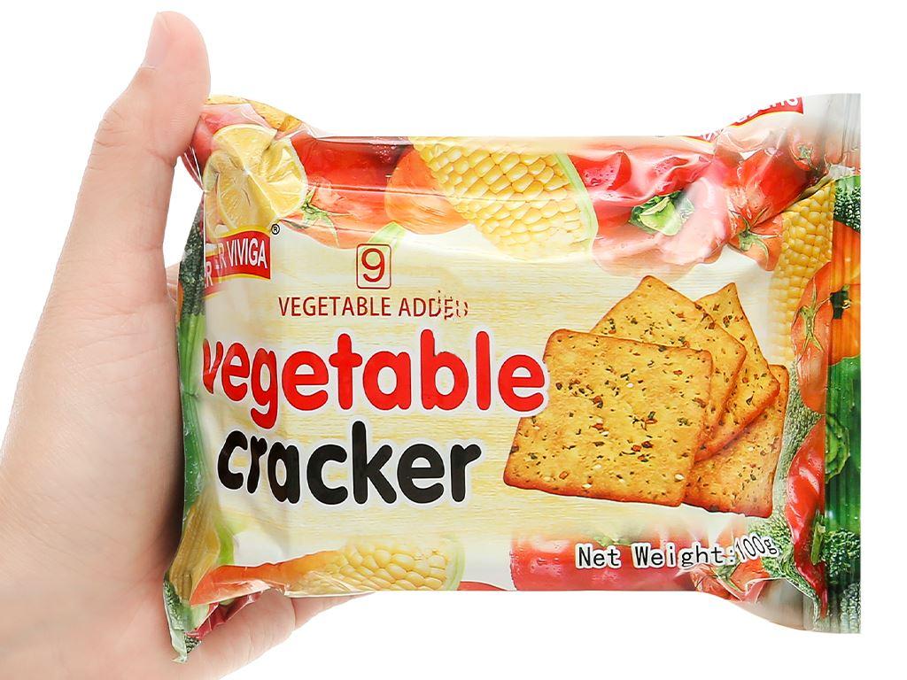 Bánh cracker vị rau củ Super Viviga gói 100g 4