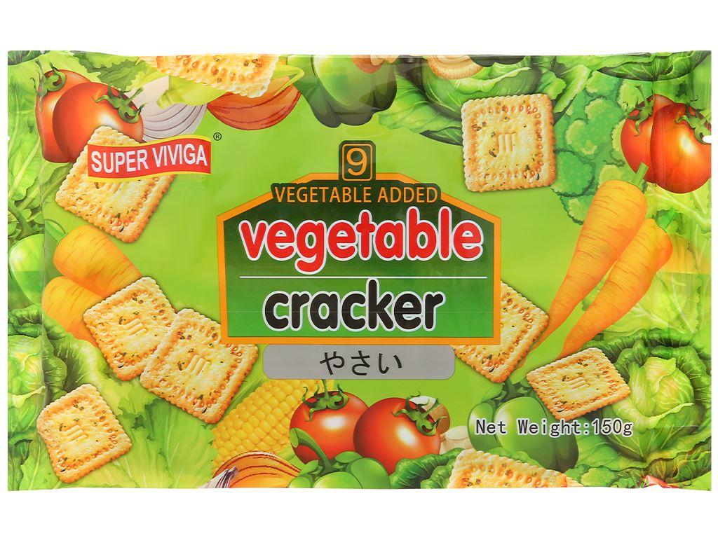 Bánh cracker vị rau củ Super Viviga gói 150g 1