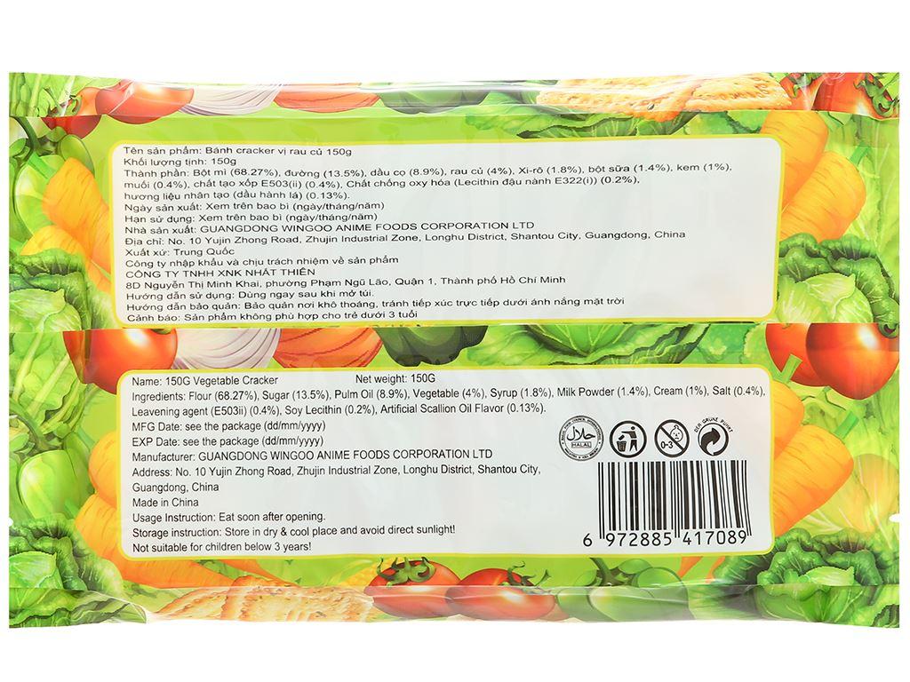 Bánh cracker vị rau củ Super Viviga gói 150g 2