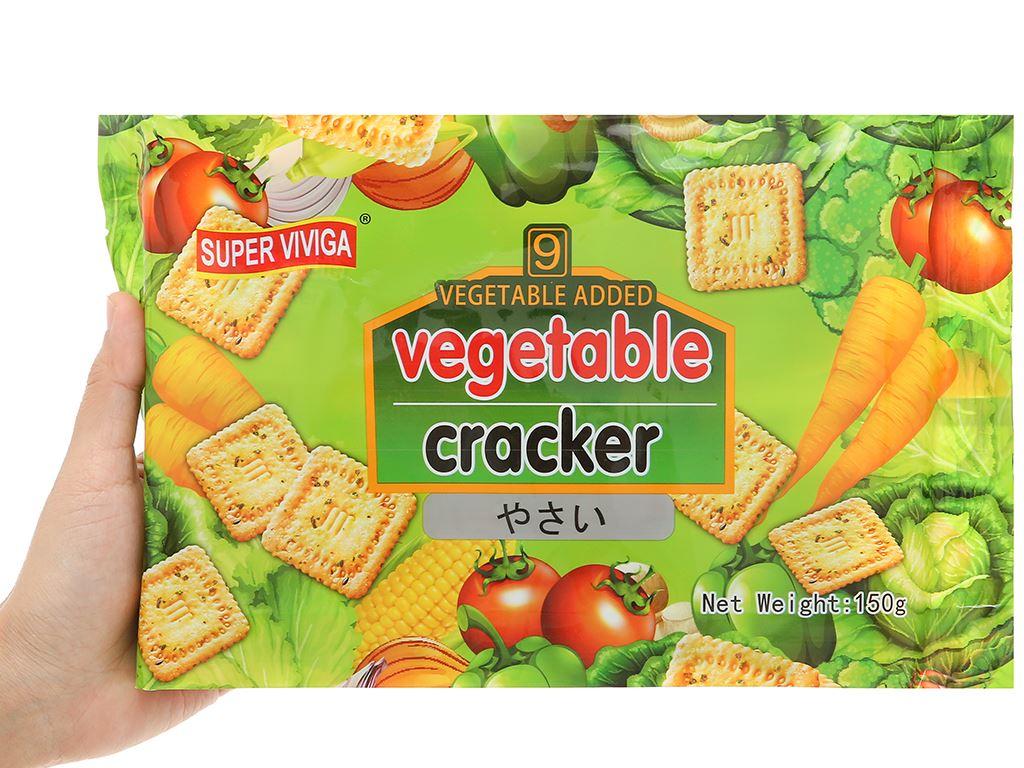 Bánh cracker vị rau củ Super Viviga gói 150g 4
