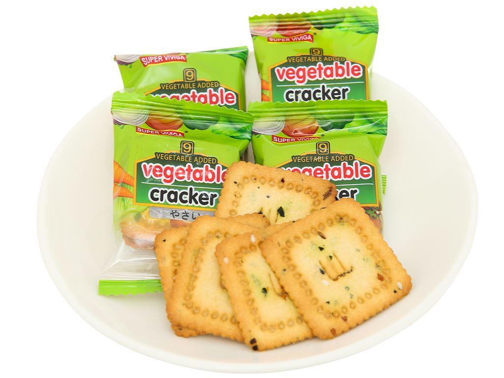 Bánh cracker vị rau củ Super Viviga gói 150g 6
