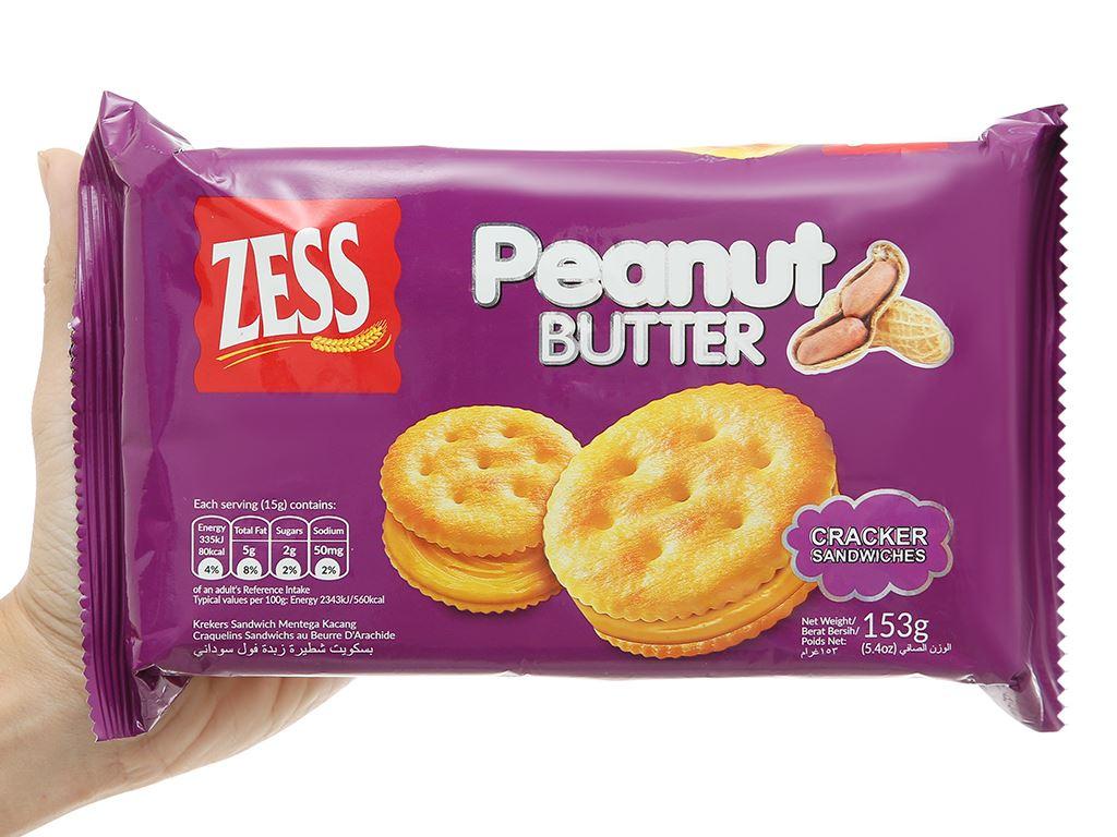 Bánh quy bơ đậu phộng Zess gói 153g 4