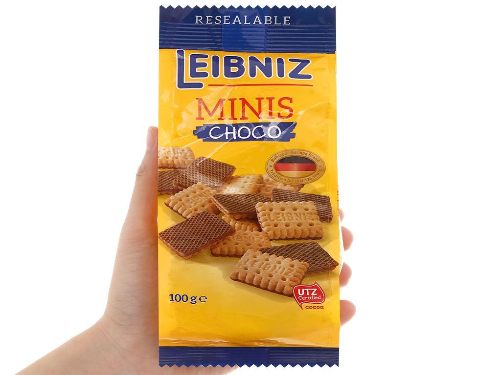 Bánh quy socola Minis Leibniz gói 100g 4