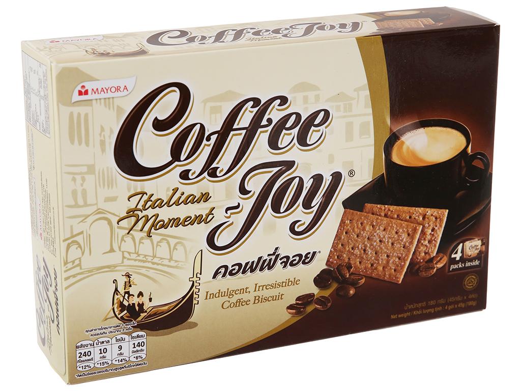 Bánh quy vị cà phê Coffee Joy hộp 180g 2