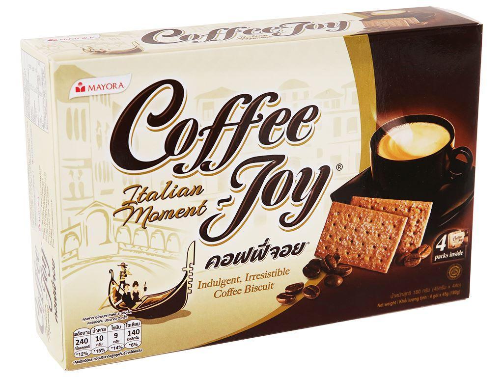 Bánh quy vị cà phê Coffee Joy hộp 180g 1