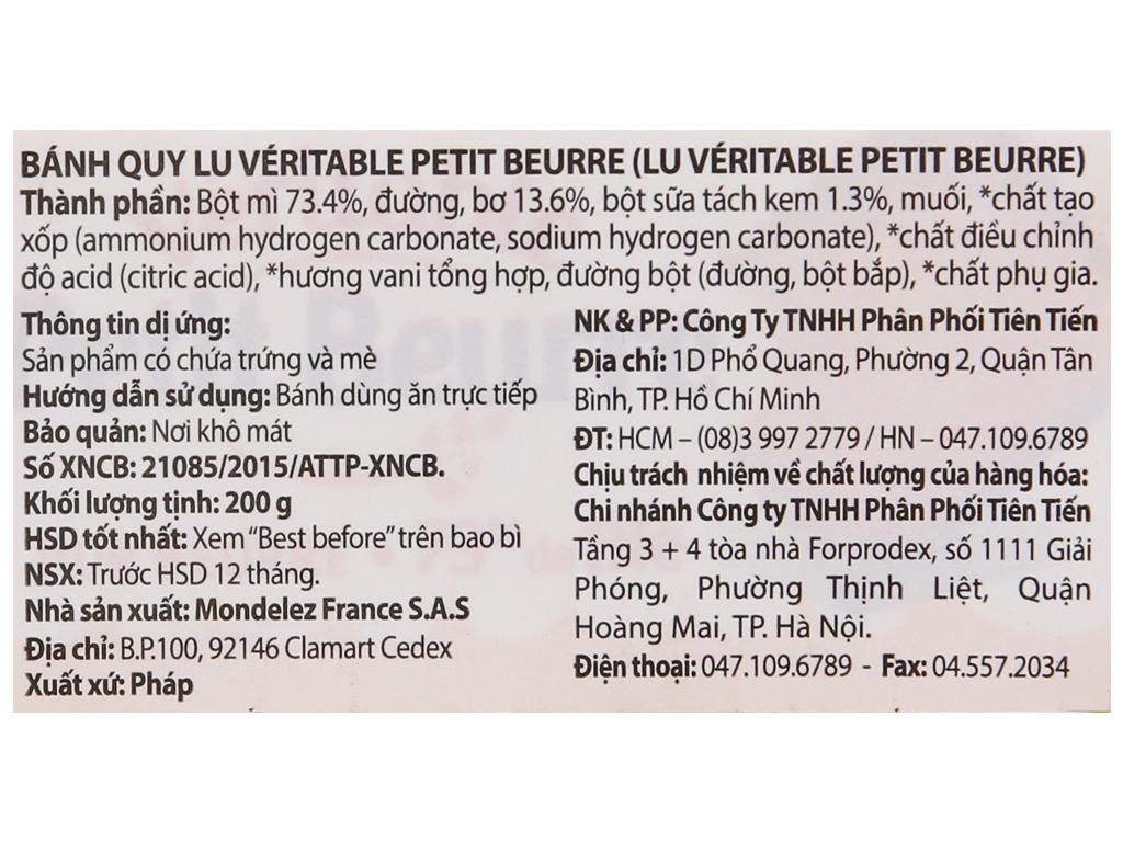 Bánh quy LU Véritable Petit Beurre gói 200g 6