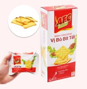 Bánh cracker vị bò bít tết AFC Dinh Dưỡng hộp 200g