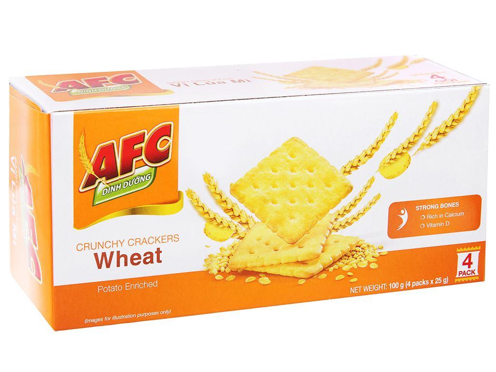 Bánh cracker lúa mì AFC hộp 100g 2