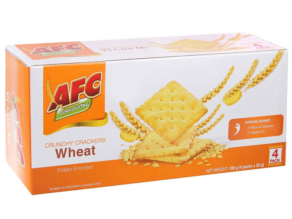 Bánh quy dinh dưỡng lúa mì AFC hộp 100g 2