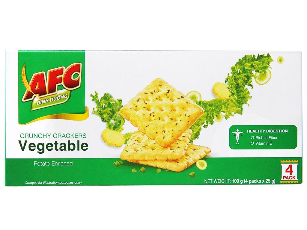 Bánh cracker vị rau AFC Dinh dưỡng hộp 100g 2