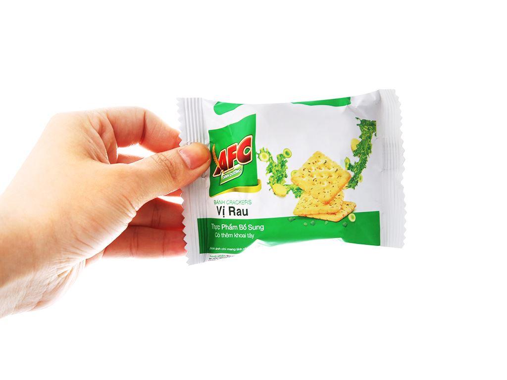 Bánh cracker vị rau AFC Dinh dưỡng hộp 100g 5