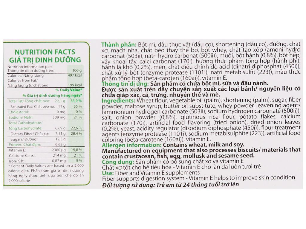 Bánh cracker vị rau AFC Dinh dưỡng hộp 100g 4