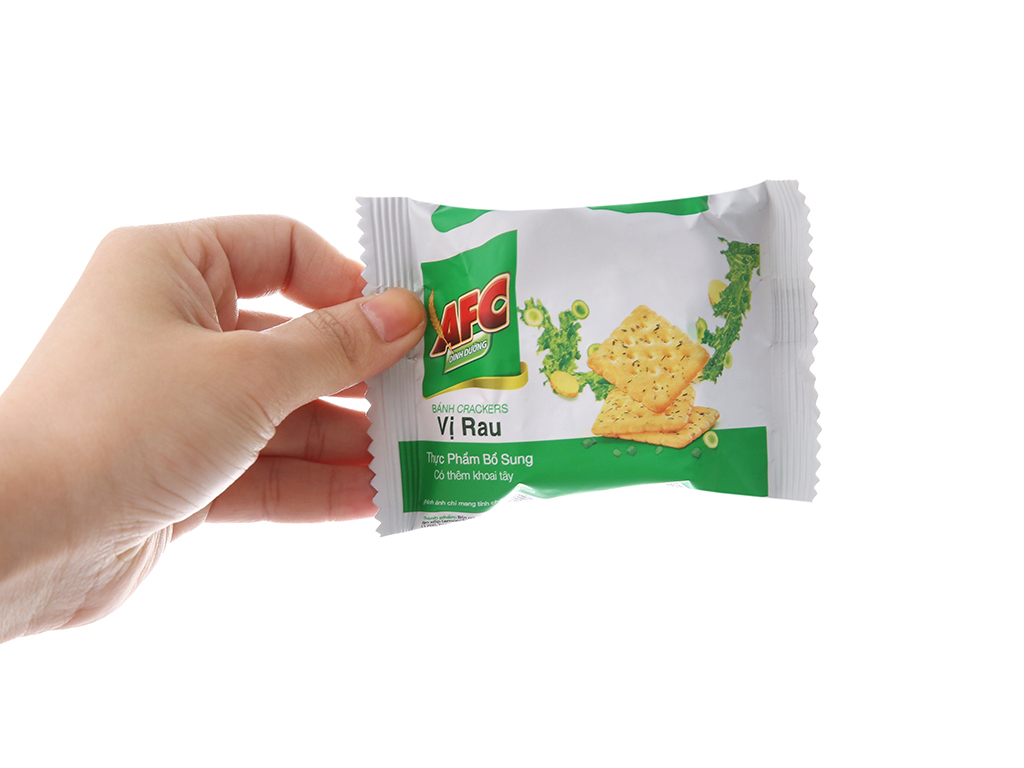 Bánh quy dinh dưỡng vị rau AFC hộp 100g 5