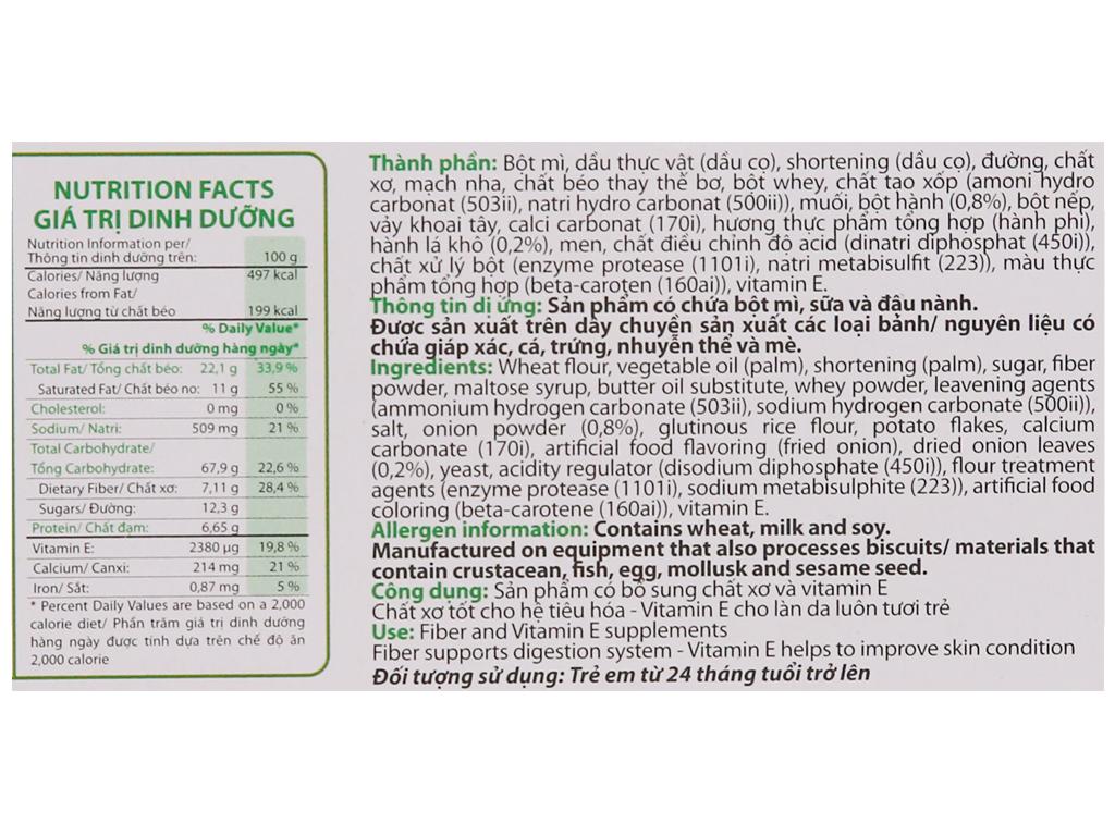 Bánh quy dinh dưỡng vị rau AFC hộp 100g 6