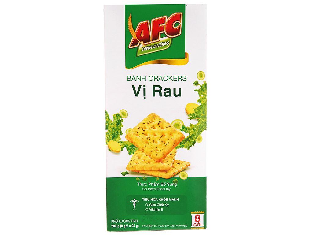 Bánh cracker vị rau AFC Dinh Dưỡng hộp 200g 1