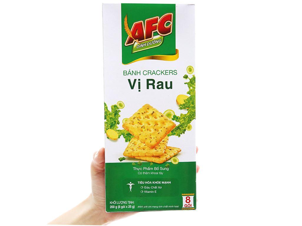 Bánh cracker vị rau AFC Dinh Dưỡng hộp 200g 4