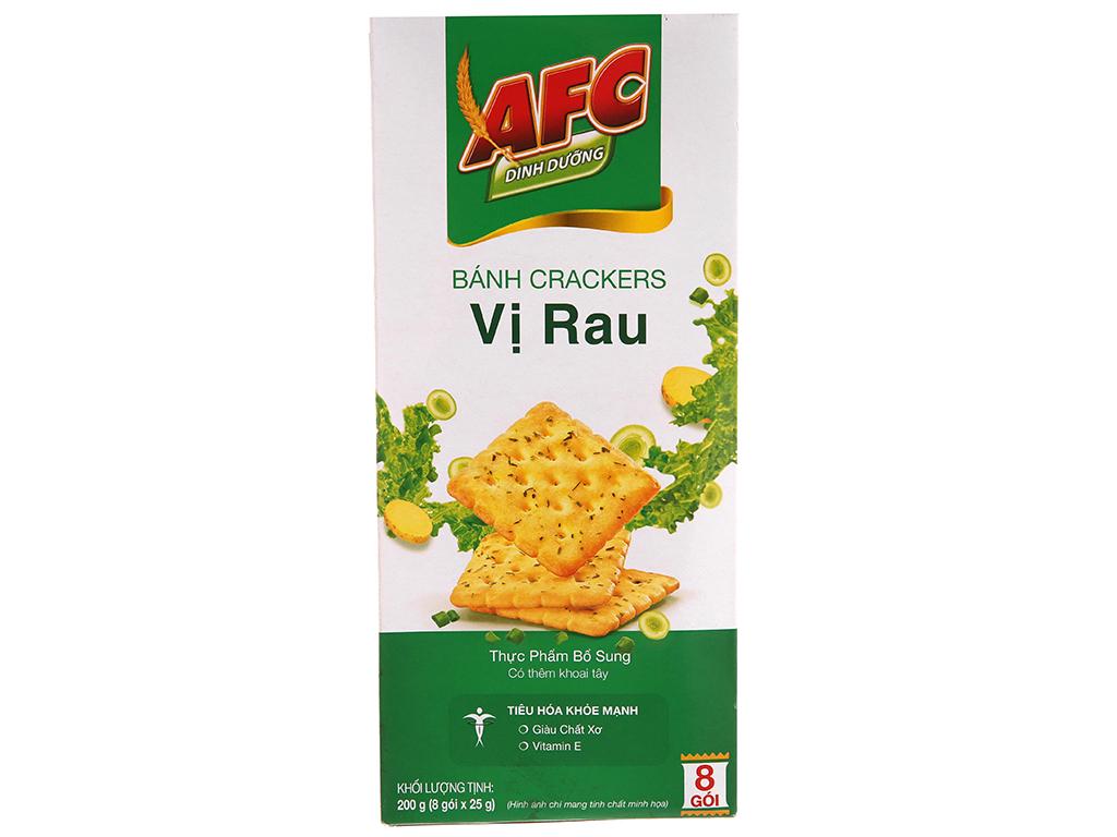 Bánh quy dinh dưỡng vị rau AFC hộp 200g 2