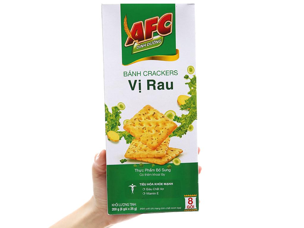 Bánh quy dinh dưỡng vị rau AFC hộp 200g 5