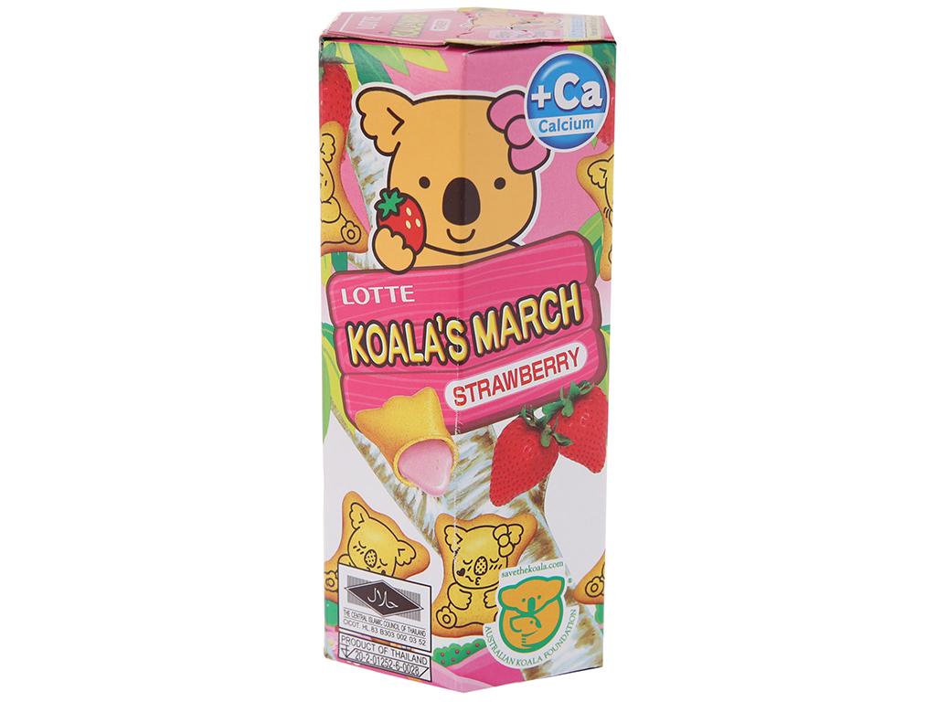 Bánh gấu Nhân kem dâu Lotte Koala's March hộp 37g 2