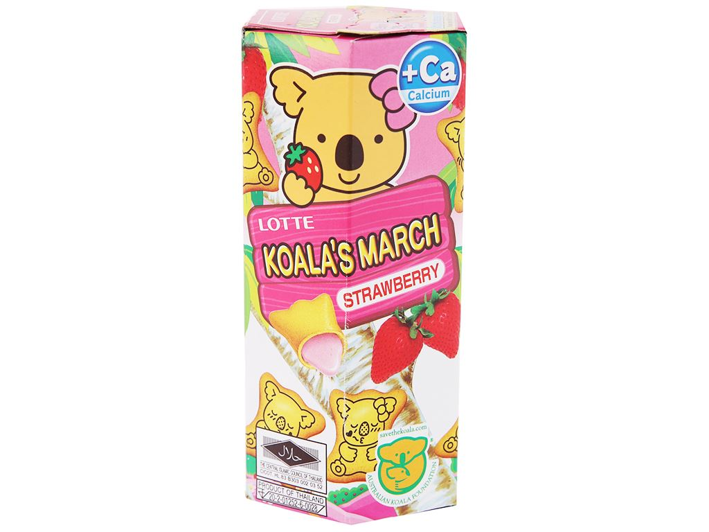 Bánh gấu nhân kem dâu Lotte Koala's March hộp 37g 1