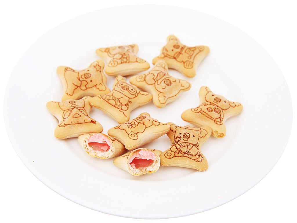 Bánh gấu nhân kem dâu Lotte Koala's March hộp 37g 4
