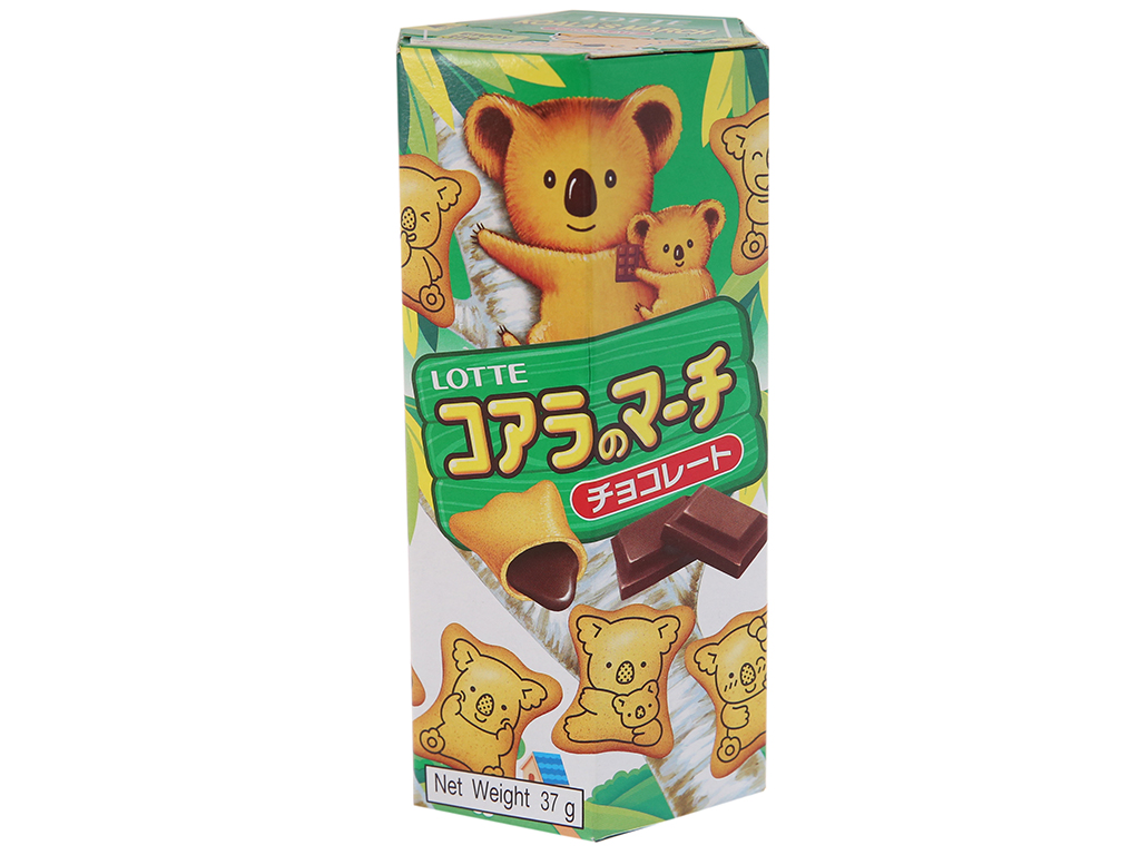 Bánh gấu nhân kem socola Lotte Koala's March hộp 37g 2