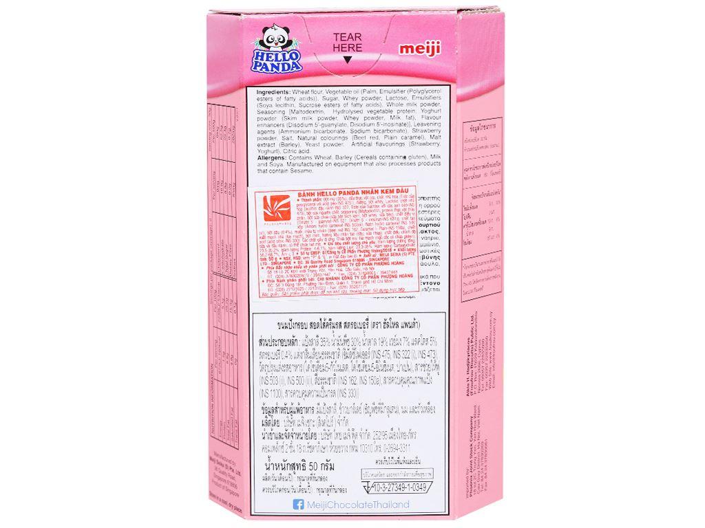 Bánh gấu nhân kem dâu Meiji Hello Panda hộp 50g 6