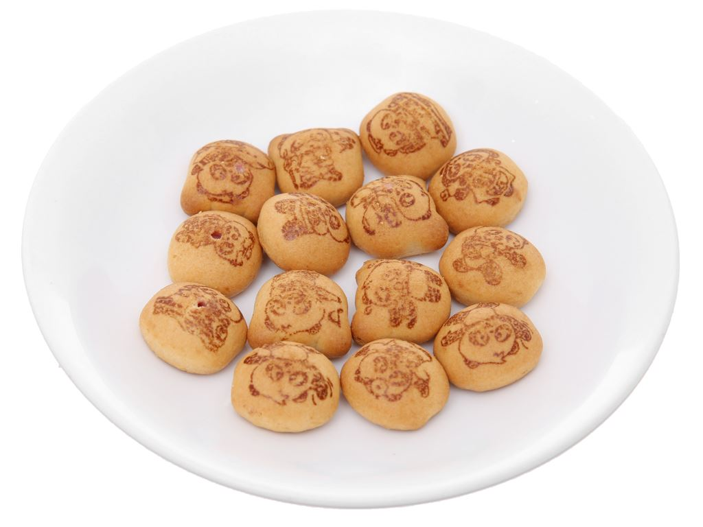 Bánh gấu nhân kem dâu Meiji Hello Panda hộp 50g 4