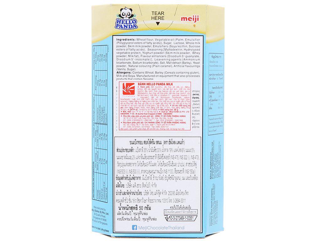 Bánh gấu nhân kem sữa Meiji Hello Panda hộp 50g 2