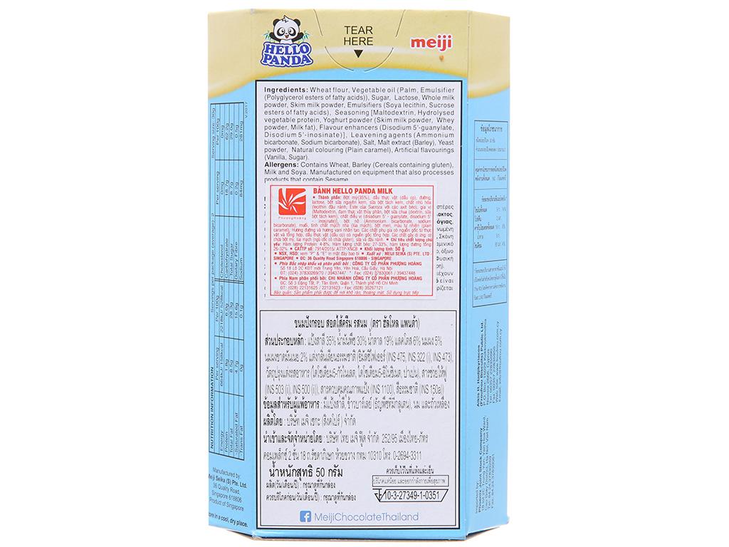 Bánh gấu hộp Nhân kem sữa Meiji Hello Panda 50g 3