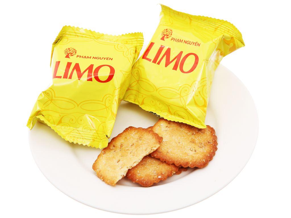 Bánh quy mè dừa Limo hộp 120g 4