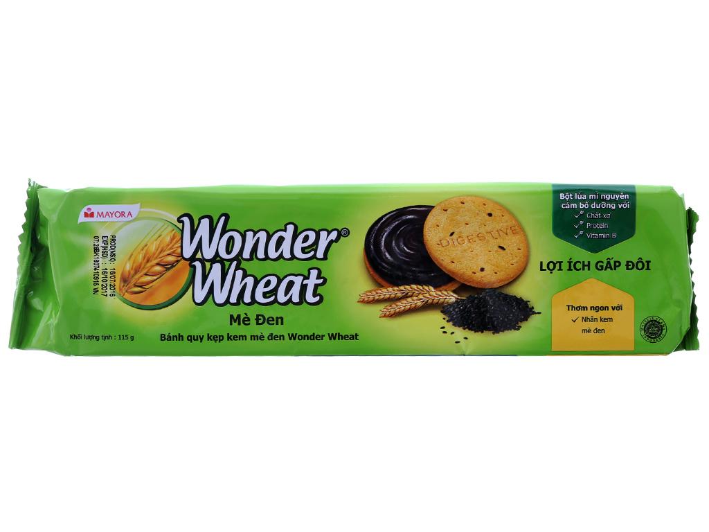 Bánh quy nhân kem mè đen Mayora Wonder Wheat gói 115g 2
