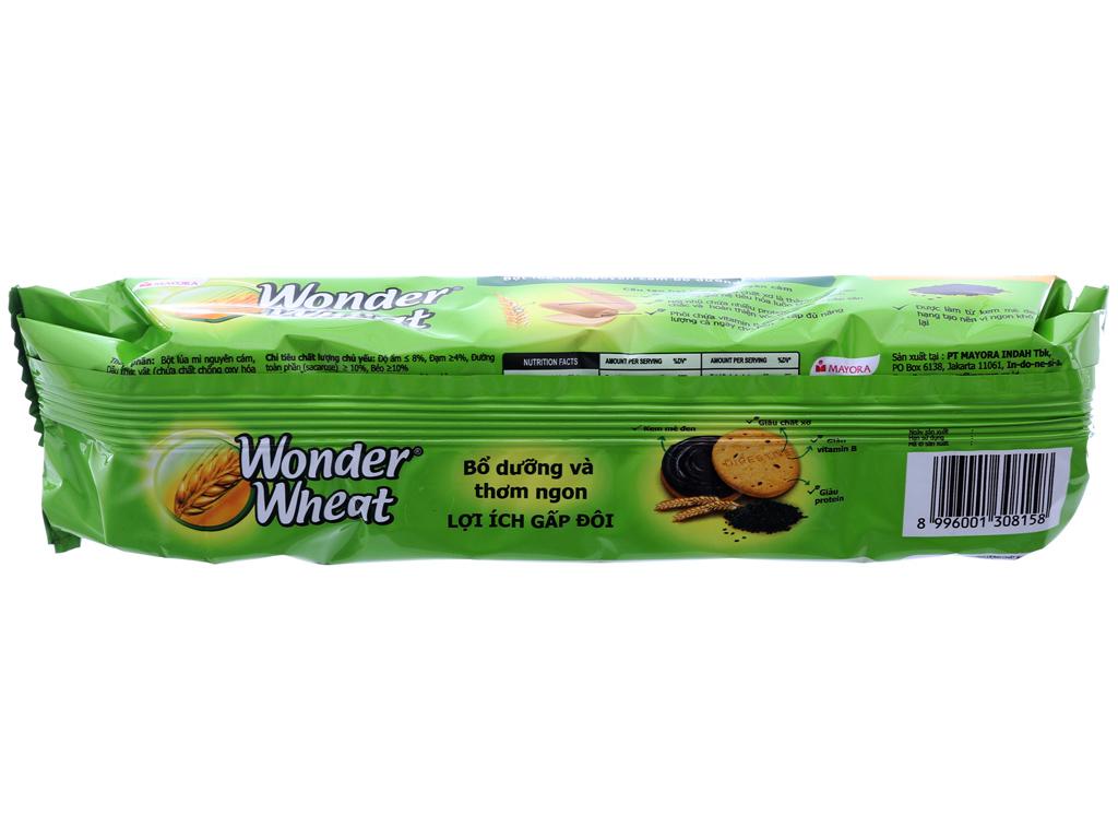 Bánh quy nhân kem mè đen Mayora Wonder Wheat gói 115g 3
