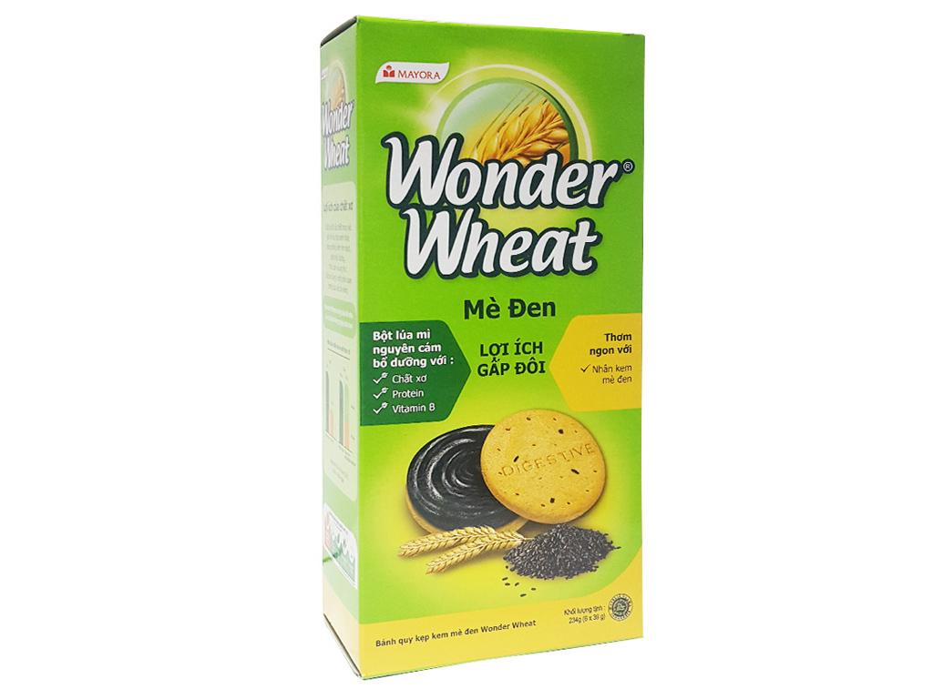 Bánh quy Nhân kem mè đen Mayora Wonder Wheat 234g 2