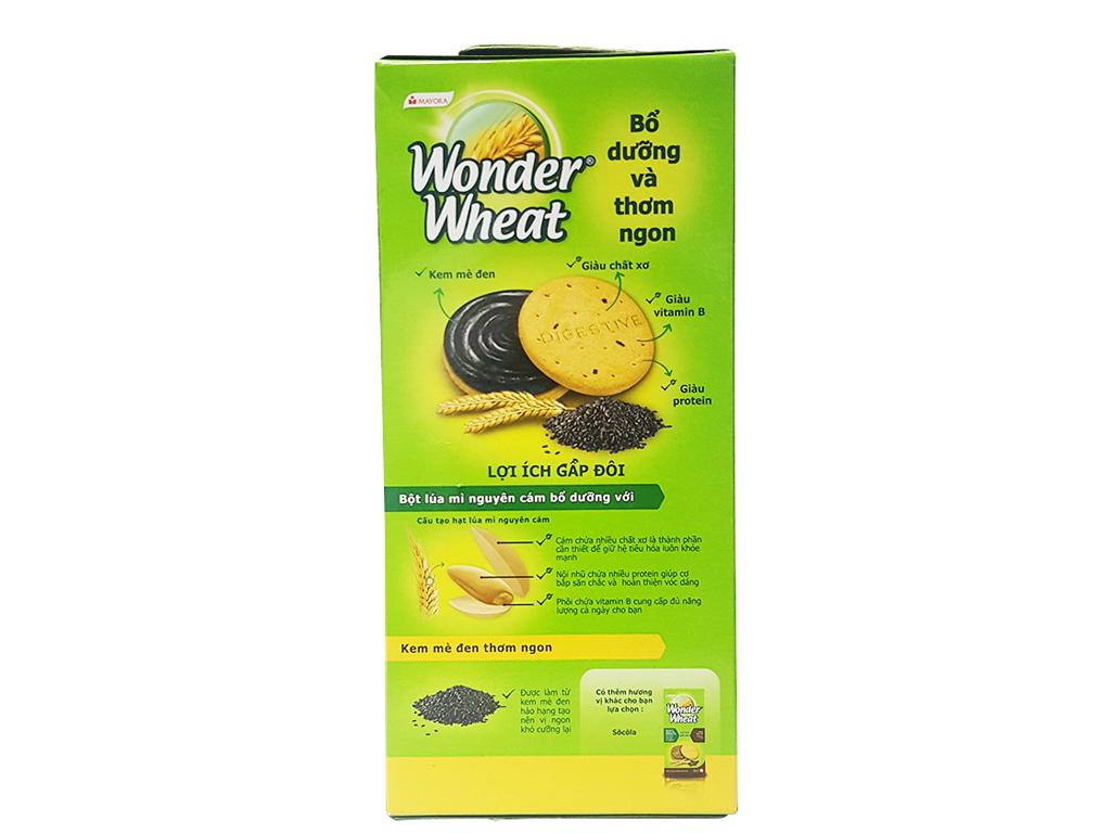 Bánh quy kẹp kem mè đen Mayora Wonder Wheat hộp 234g 4