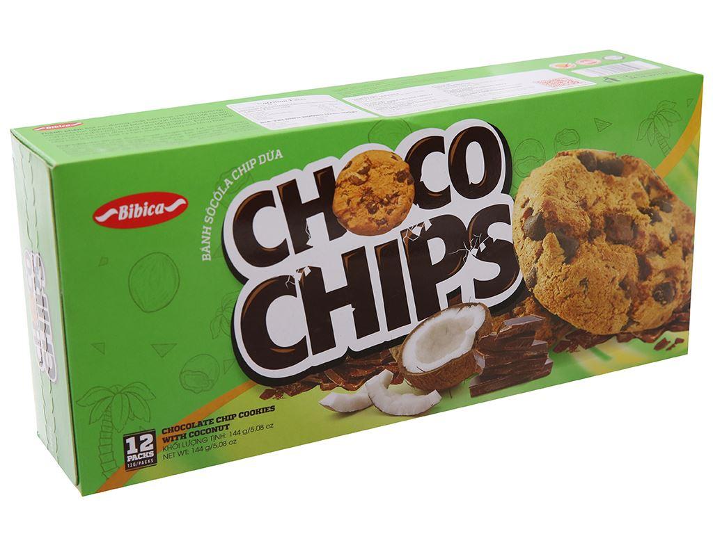 Bánh quy dừa Choco Chips hộp 144g 2