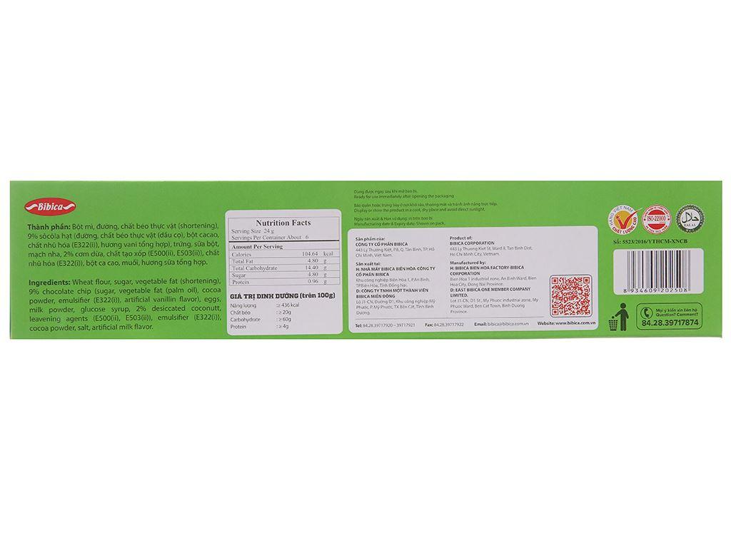 Bánh quy dừa Choco Chips hộp 144g 3