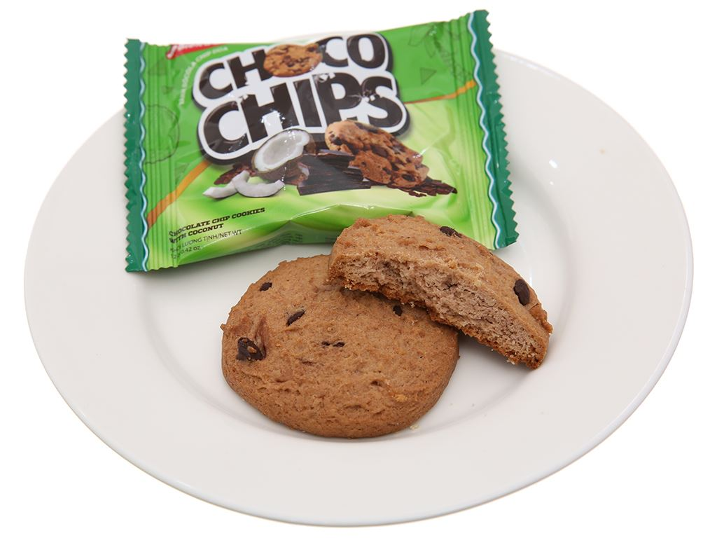 Bánh quy dừa Choco Chips hộp 144g 4