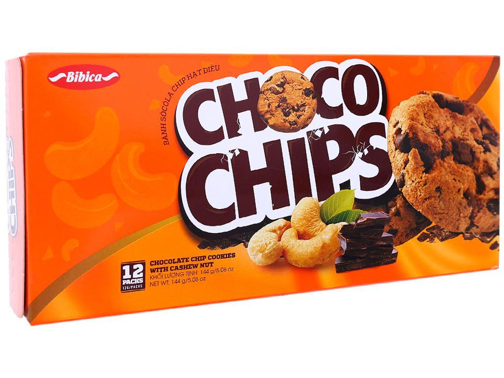 Bánh quy choco chip hạt điều Choco Chips hộp 144g 2