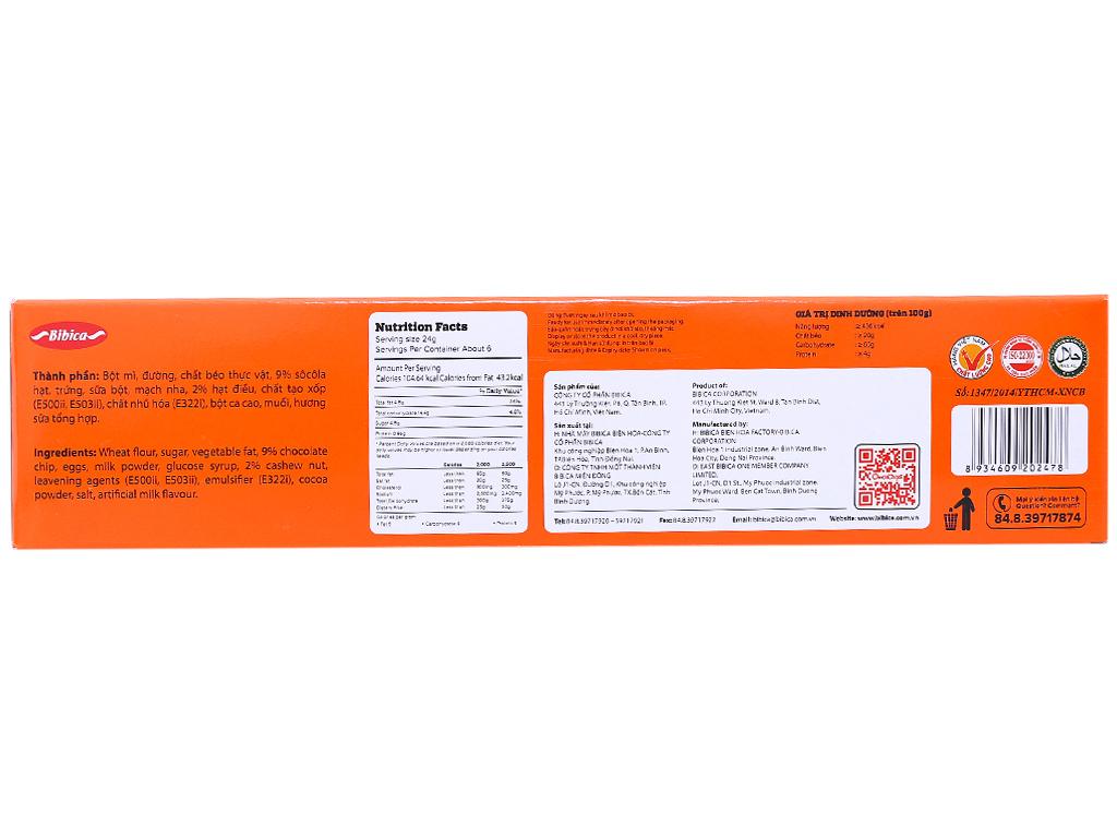 Bánh quy choco chip hạt điều Choco Chips hộp 144g 4