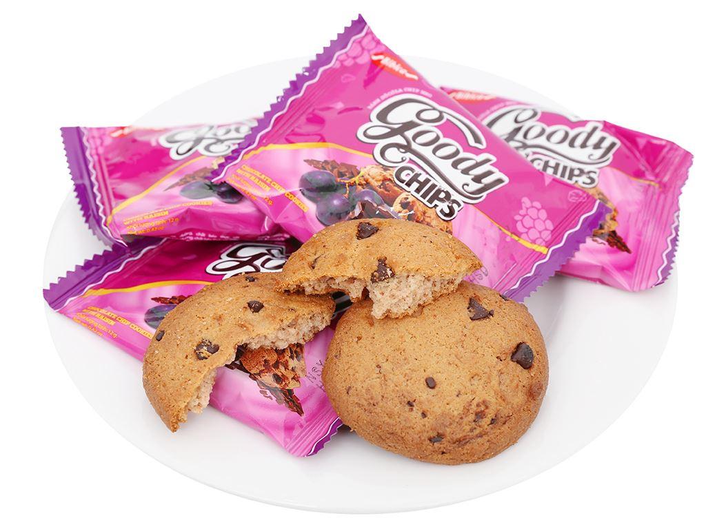 Bánh quy hạt socola chip và nho khô Goody Chips hộp 144g 6