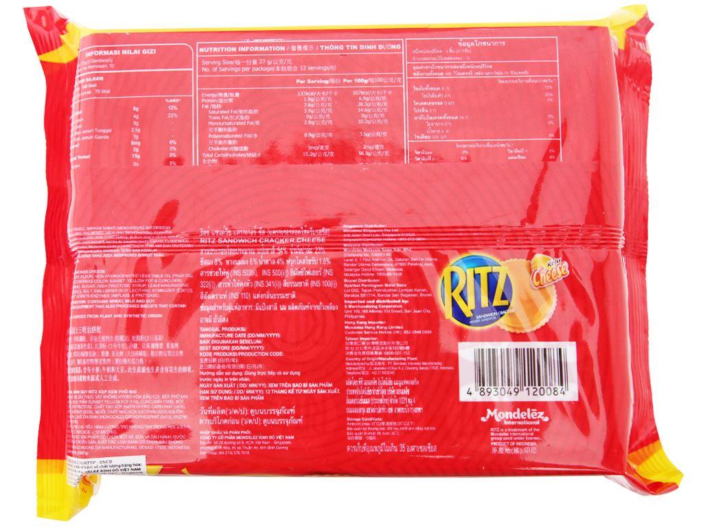 Bánh cracker phô mai Ritz gói 324g 2