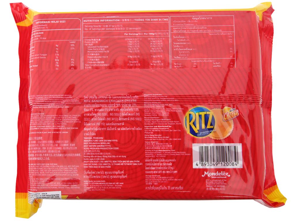 Bánh quy Phô mai Ritz gói 324g 2