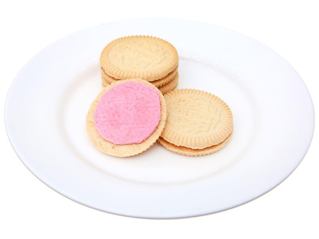 Bánh quy nhân kem hương dâu sữa chua Cream-O gói 85g 5