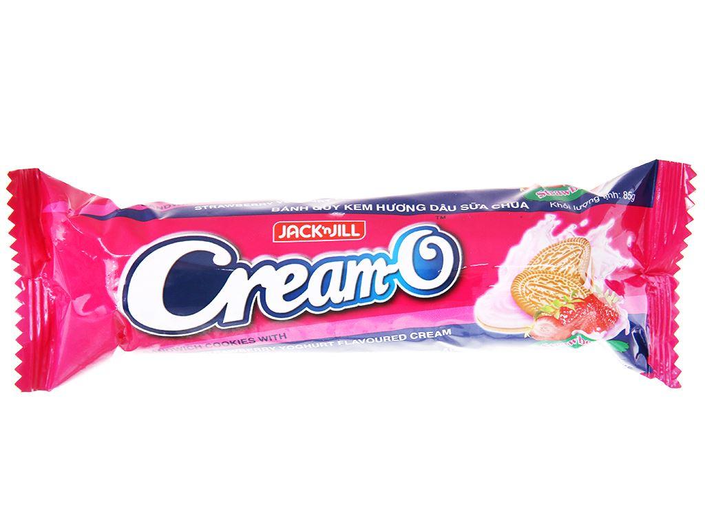 Bánh quy nhân kem hương dâu sữa chua Cream-O gói 85g 2