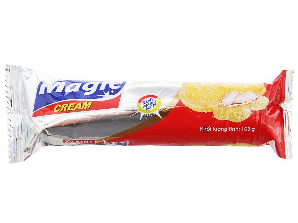 Bánh cracker kem bơ đậu phộng Magic gói 108g 1