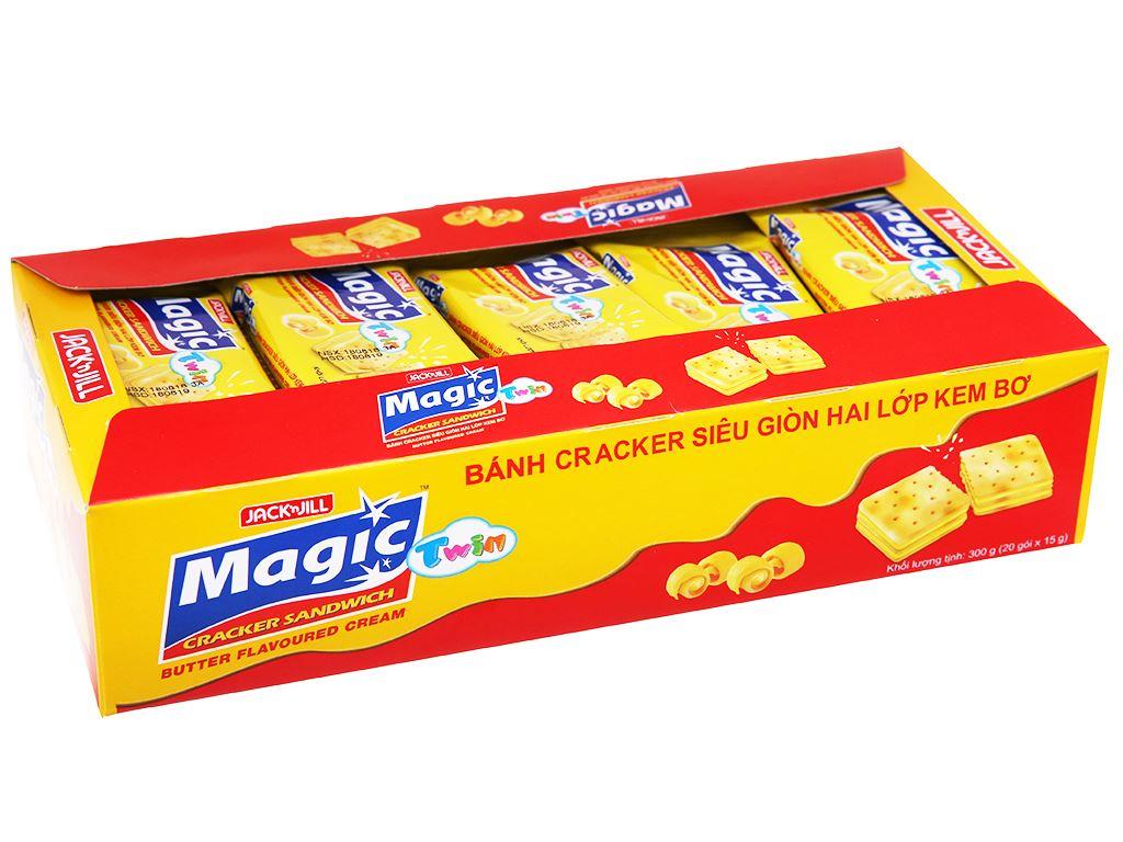 Bánh cracker hai lớp kem bơ Magic Twin hộp 300g 1